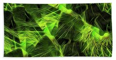 Beach Towel featuring the digital art Threshed Green by Ron Bissett