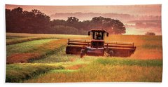 Swathing On The Hill Beach Sheet