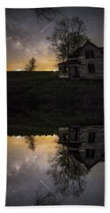 Beach Towel featuring the photograph Through A Mirror Darkly  by Aaron J Groen