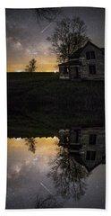 Through A Mirror Darkly  Beach Sheet by Aaron J Groen