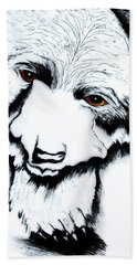 Through The Bears Eyes Beach Towel