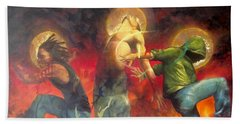 Through The Fire Beach Towel by Christopher Marion Thomas