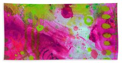 Beach Towel featuring the painting Through The Fire by Tracy Bonin