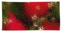 Strawberries Behind  The Glass Beach Towel by Maciek Froncisz