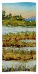 Through The Marsh Beach Towel by Barry Jones