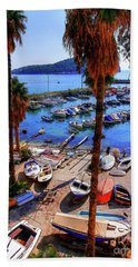 Through The Trees Dubrovnik Harbour Beach Towel