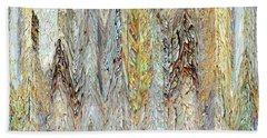 Through Tiny Cracks In The Boardwalk Beach Towel by Danica Radman