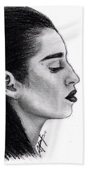 Lauren Jauregui Drawing By Sofia Furniel Beach Towel