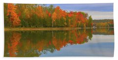 Beach Sheet featuring the photograph Thumb Lake by Trey Foerster