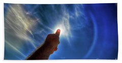 Thumb To The Sky Beach Towel