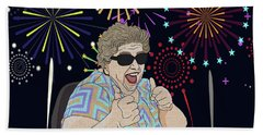 Beach Towel featuring the digital art Thumbs Up by Megan Dirsa-DuBois
