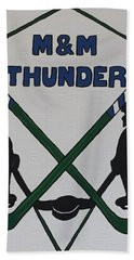 Thunder Hockey Beach Towel by Jonathon Hansen