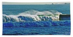 Thunder Of The Waves Beach Towel