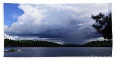Thunder Shower At Slim Lake Beach Sheet