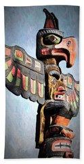 Thunderbird Totem Pole - Thunderbird Park, Victoria, British Columbia Beach Sheet