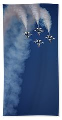 Beach Towel featuring the photograph Thunderbirds Diamond Formation by Rick Berk