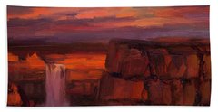 Beach Towel featuring the painting Thundercloud Over The Palouse by Steve Henderson