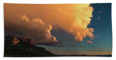 Beach Towel featuring the photograph Thunderhead In Sedona by Robert FERD Frank