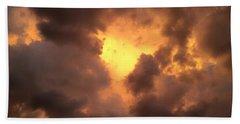 Thunderous Sunset Beach Towel