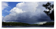 Thundershower Over Slim Lake Beach Towel
