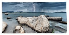 Thunderstorm  Beach Towel