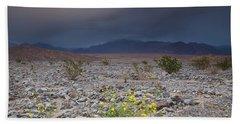 Thunderstorm Over Death Valley National Park Beach Sheet