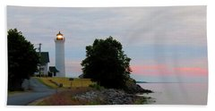 Tibbetts Point Light Sunset Beach Sheet