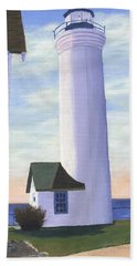 Beach Sheet featuring the painting Tibbett's Point by Lynne Reichhart
