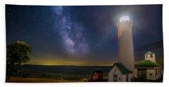 Tibbetts Point Night Beach Towel by Mark Papke