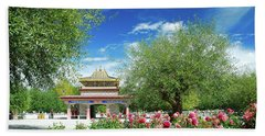 Tibet Scenery In Autumn Beach Sheet