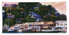 Tiburon California Waterfront Beach Towel