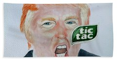 Tic Tac Trump Beach Towel by Edwin Alverio