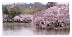 Tidal Basin Cherry Trees Beach Sheet