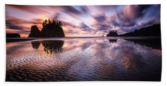 Tidal Reflection Serenity Beach Towel