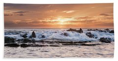 Beach Towel featuring the photograph Tidal Sunset by Heather Applegate