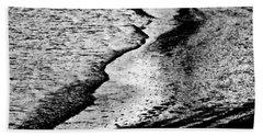 Tidal Wave Reaching For The Shoreline Beach Sheet by Carol F Austin
