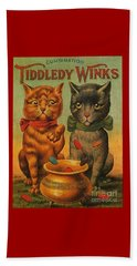 Tiddledy Winks Funny Victorian Cats Beach Towel
