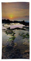 Tide Pools Beach Sheet by James Roemmling