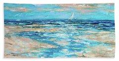 Tide Rising Beach Sheet by Linda Olsen
