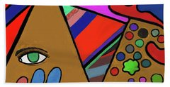 Tie Dye Abstract Beach Towel by David Jackson