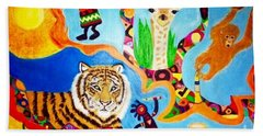 Tiger And Friends Beach Towel