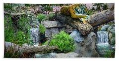 Tiger At Dusk Beach Towel
