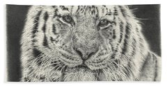 Tiger Drawing Beach Towel