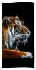 Beach Towel featuring the photograph Tiger Fractal 2 by Shane Bechler