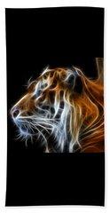 Tiger Fractal Beach Sheet by Shane Bechler