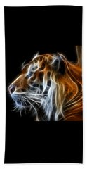 Beach Towel featuring the photograph Tiger Fractal by Shane Bechler