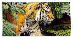 Tiger In The Sunderban Delta Beach Towel
