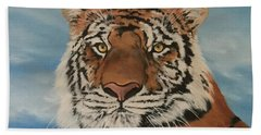Bengal Tiger Beach Sheet by Jean Walker
