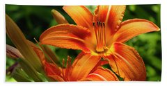 Tiger Lily Explosion Beach Towel