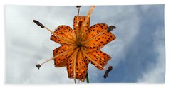 Tiger Lily In A Shower Beach Sheet